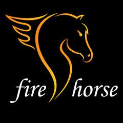 Logo - Pferd mit Feuerrosshaar
