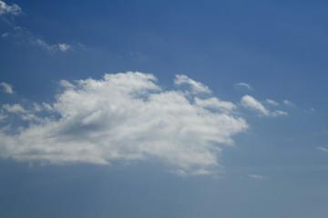 青空と雲「空想・雲のモンスター(強いドラゴンに襲いかかる小さいモンスターたちのイメージ)」勇気をふりしぼり立ち向かう,負けない,窮鼠猫を嚙む,鼻っ柱をへし折る,奇襲攻撃などのイメージ