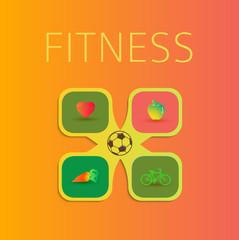 fitness infographics template flyer design element02