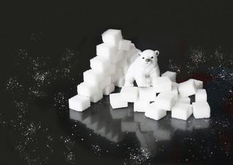 Sugar iceberg with iceberg