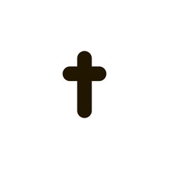 christian cross icon. sign design