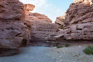 Visiting Red Canyon at Eilat mountains
