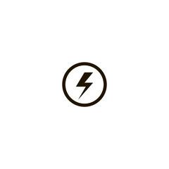 thunder icon. sign design