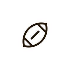 american football ball icon. sign design