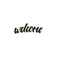 welcome icon. sign design