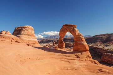 Delicate arch in Arches National Park in Utah, USA
