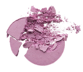 Crushed texture of gently pink eye shadow or powder