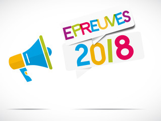 mégaphone : épreuves 2018