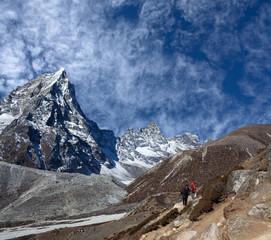 Road to Everest Base camp in Sagarmatha National Park, Nepal Himalayas
