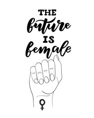 The Future Is Female Card Template