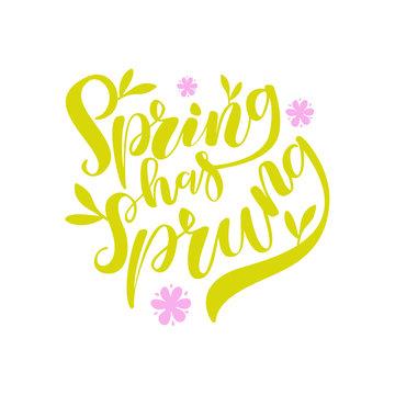 Spring Has Sprung Brush Lettering