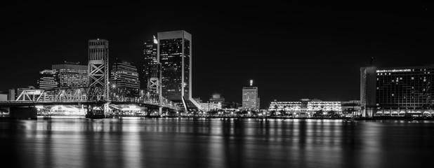 Jacksonville Florida Skyline at Night