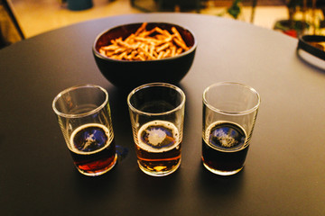 Beer Samples and French Fries