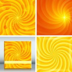 Set background Design elements glow light effect03