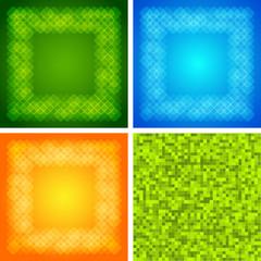 Set background Design elements glow light effect10