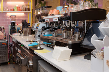 Equipment of a cafe