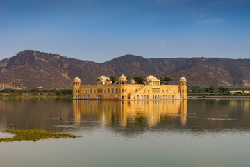Wall Mural - Jal Mahal, The water palace in Jaipur, Rajasthan, India.