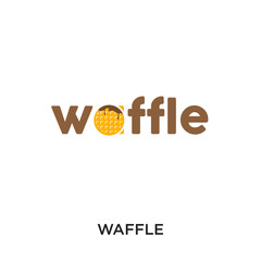waffle logo isolated on white background for your web, mobile and app design