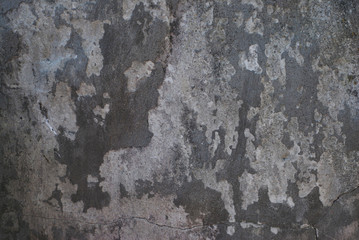 Fotobehang Oude vuile getextureerde muur Grounge Gray cement Old Wall Texture Peeled Background