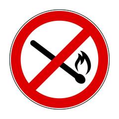 Fire ban sign – stock vector