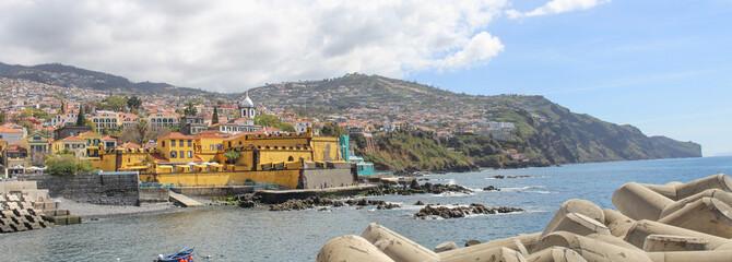 Fortaleza de São Tiago Funchal harbour Skyline Madeira island Portugal Fototapete