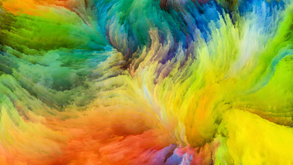 Kiss of  Colorful Paint