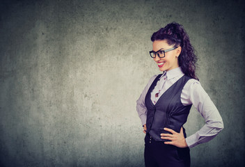 Elegant business woman in glasses
