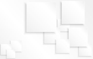 Abstract geometric white squared background for text. Vector, illustration
