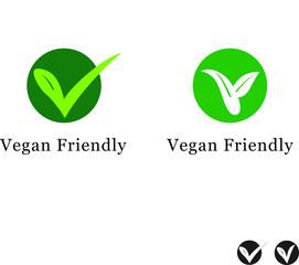 Vegan Friendly Food Icon - Suitable for Vegetarian Symbol