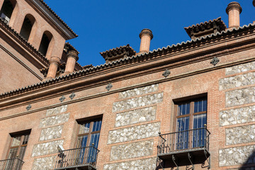 House of Seven Chimneys in City of Madrid, Spain