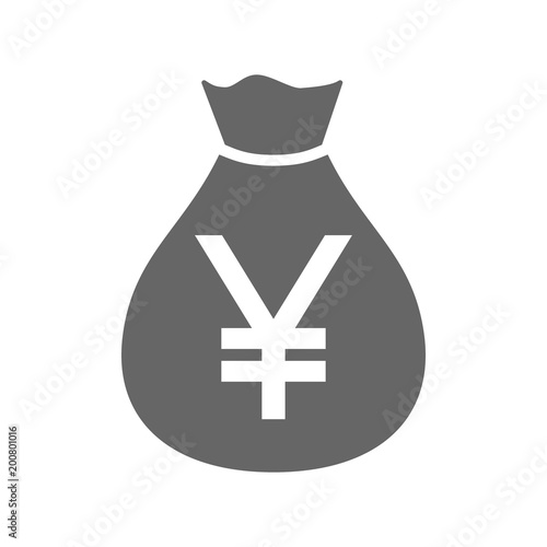 Money Bag Currency Simple Design Icon Japanese Yen Moneybag Icon