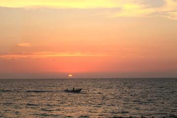 Sunset in Baru Island, Colombia