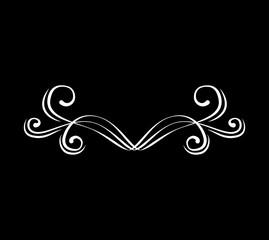 Flourishe swirl, curl, scroll element. Calligraphic design element. Vector.