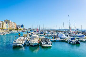 View of marina in the spanish city santander
