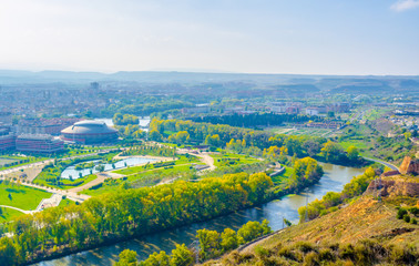 Aerial view of the spanish city Logrono
