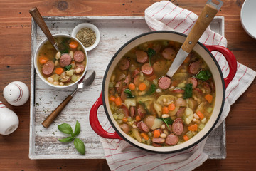 Sausage, Potato, and White Bean Soup