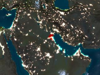 Night view of Kuwait