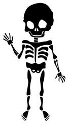 Fun And Friendly Skeleton Silhouette Waving