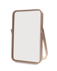 Small mirror on white background