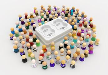 Cartoon Crowd, Power Socket