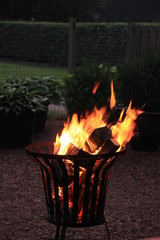 Outdoor iron firepit