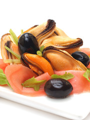 Refined dish from mussels
