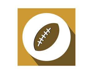 football sport icon sports equipment tool utensil image vector