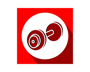red barbell sports equipment tool utensil image vector