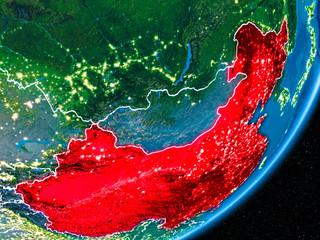 Night over China
