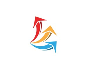 Business finance arrow logo design concept
