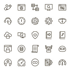 Programming icon set