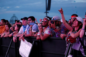 Concertgoers watch a performance by Portugal. The Man at the Coachella Valley Music and Arts Festival in Indio