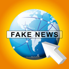 Fake News Pointer And Globe 3d Illustration