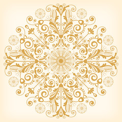vector vintage floral  background with decorative flowers for design